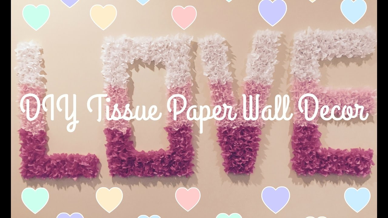 Wall Decor Tissue Paper : Diy easy tissue paper wall decor everything christmas