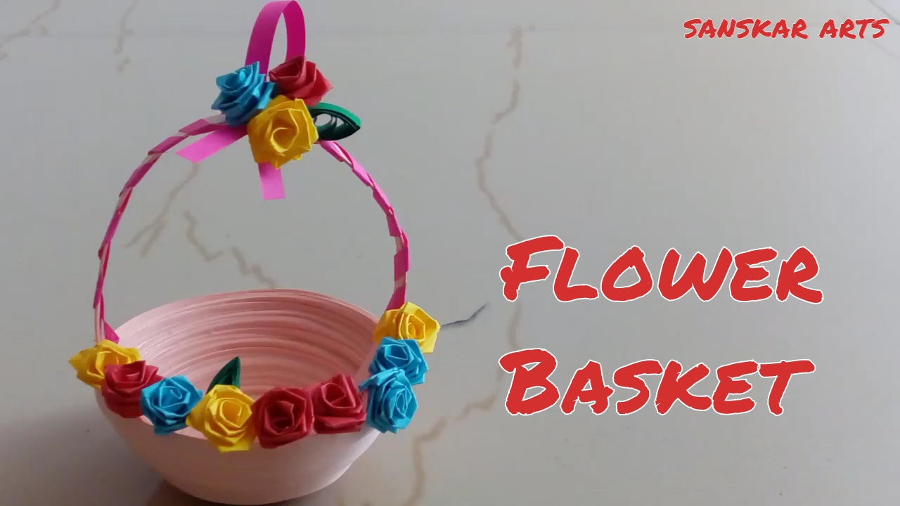How To Make A Quilling Flower Basket : Diy how to make paper quilling tiny flower basket