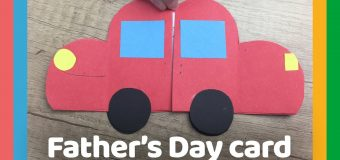 Father's day DIY Gift – EASY CARD to do with kids