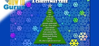 How to make a Christmas Tree Poem Card Adobe Photoshop Elements 15 14 13 12 11 Tutorial