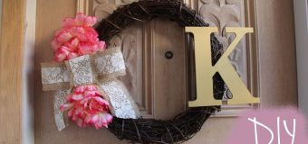How To Make A Wreath | Cute And Easy DIY Wreath Monogrammed
