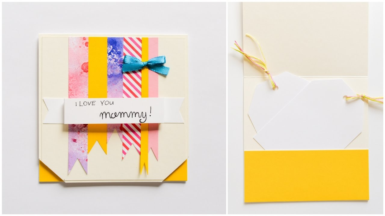 How to make greeting card mother s day step by