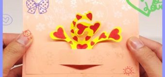 How To Make HEART Pop Up Card, Bee DIY