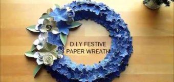 D.I.Y FESTIVE PAPER WREATH