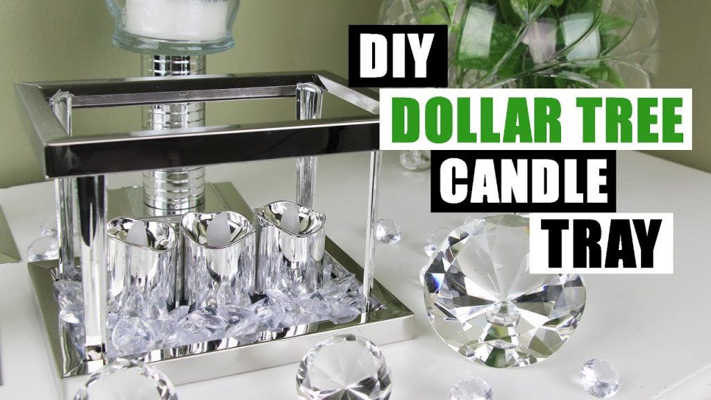 Diy Dollar Tree Glam Candle Tray Dollar Store Diy Candle Holder Bling Display Diy Glam Room Decor Everything 4 Christmas