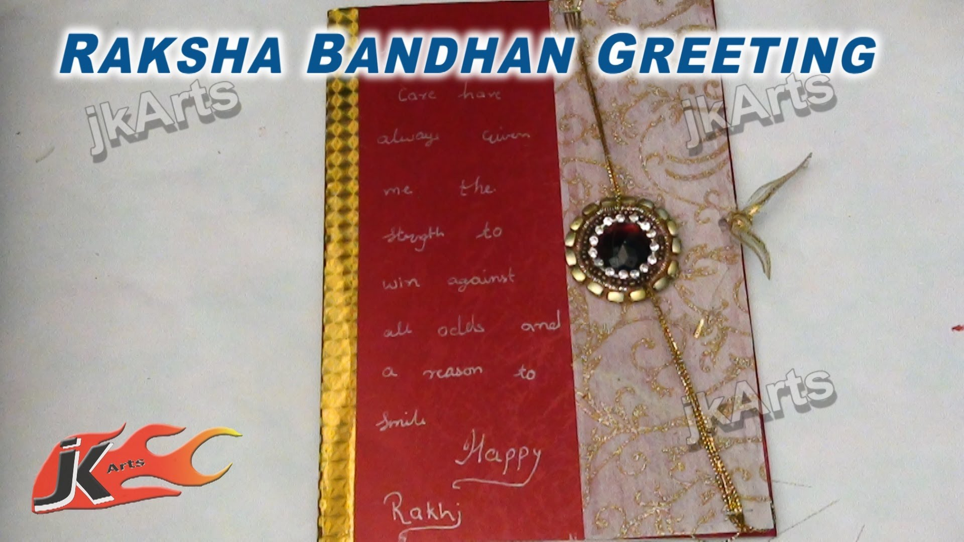 Diy Greeting Card For Raksha Bandan How To Make Jk Arts 283