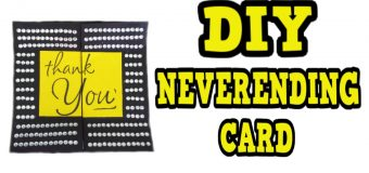 DIY NERVERENDING CARD! For ANY OCCASSION! Easy! Neat DIY  CARD Folding Idea!