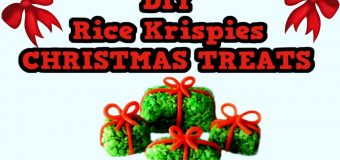 DIY RICE KRISPIES CHRISTMAS TREATS! Cute! Yummy! Easy! Cheap! Fun! Holiday DIY!