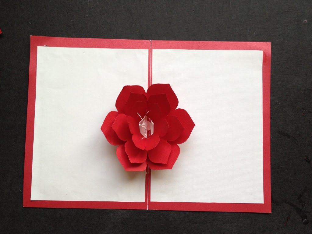 Easy To Make A 3D Flower Pop Up Paper Card Tutorial Amp Free