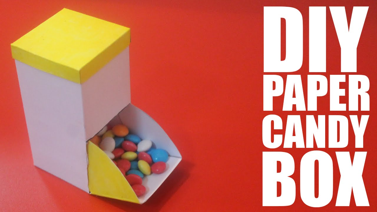 How To Make A Paper Candy Box Diy Candy Box Everything