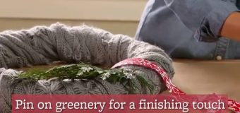 How to Make a Scarf Christmas Wreath in 3 Easy Steps