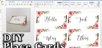 How to make DIY Place Cards with mail merge in MS Word and Adobe Illustrator | Free Template