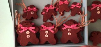 Tilda Gingerbread Men Cinnamon Cookie Ornament