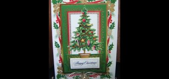 342.Cardmaking Project: Anna Griffin Glorious Christmas Tree Card