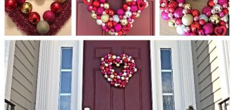 DIY Ornament Wreath Heart Wreath Valentine's Day Decor