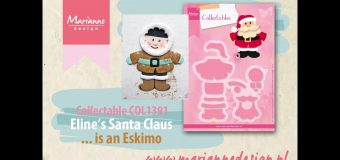 Eline's Santa Claus Collectable COL1391 | How to make an Eskimo | Marianne Design Cardmaking