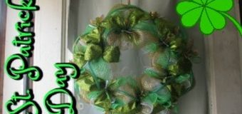 ST. PATRICKS DAY WREATH TUTORIAL *DOLLAR TREE DECO MESH*