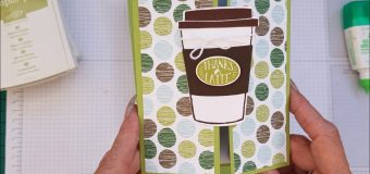 Coffee Cafe Gate-fold Card Case Card Class #166 Stampin up Stamps.