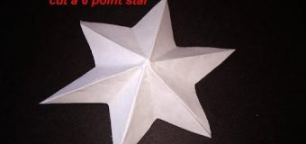 DIY HOW TO FOLD AND CUT A 6 POINT STAR – make a dimensional star – ornament – PAPER CRAFTS
