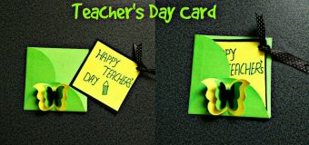 DIY|How to make|Teacher's Day greeting card|#15