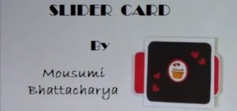 DOUBLE SLIDER CARD For Explosion Box || Tutorial By Mousumi Bhattacharya