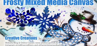 Holiday Whimsies: Frosty Mixed Media Canvas