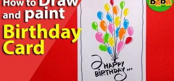 Learn how to draw BALLOON BIRTHDAY CARD | STEP BY STEP | Kids Drawing | TADA-DADA Art Club