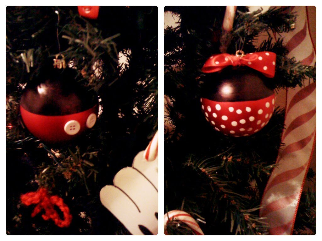mickey and minnie ornaments tutorial - Everything 4 Christmas