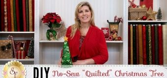 """No-Sew """"Quilted"""" Christmas Tree 