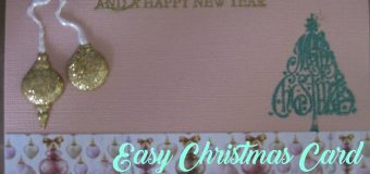 Quick & Easy DIY Christmas Card – Leia's Baking Corner