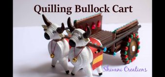 Quilling Bullock Cart/ Best from Waste/ Paper Bull Cart/ Miniature Quilling
