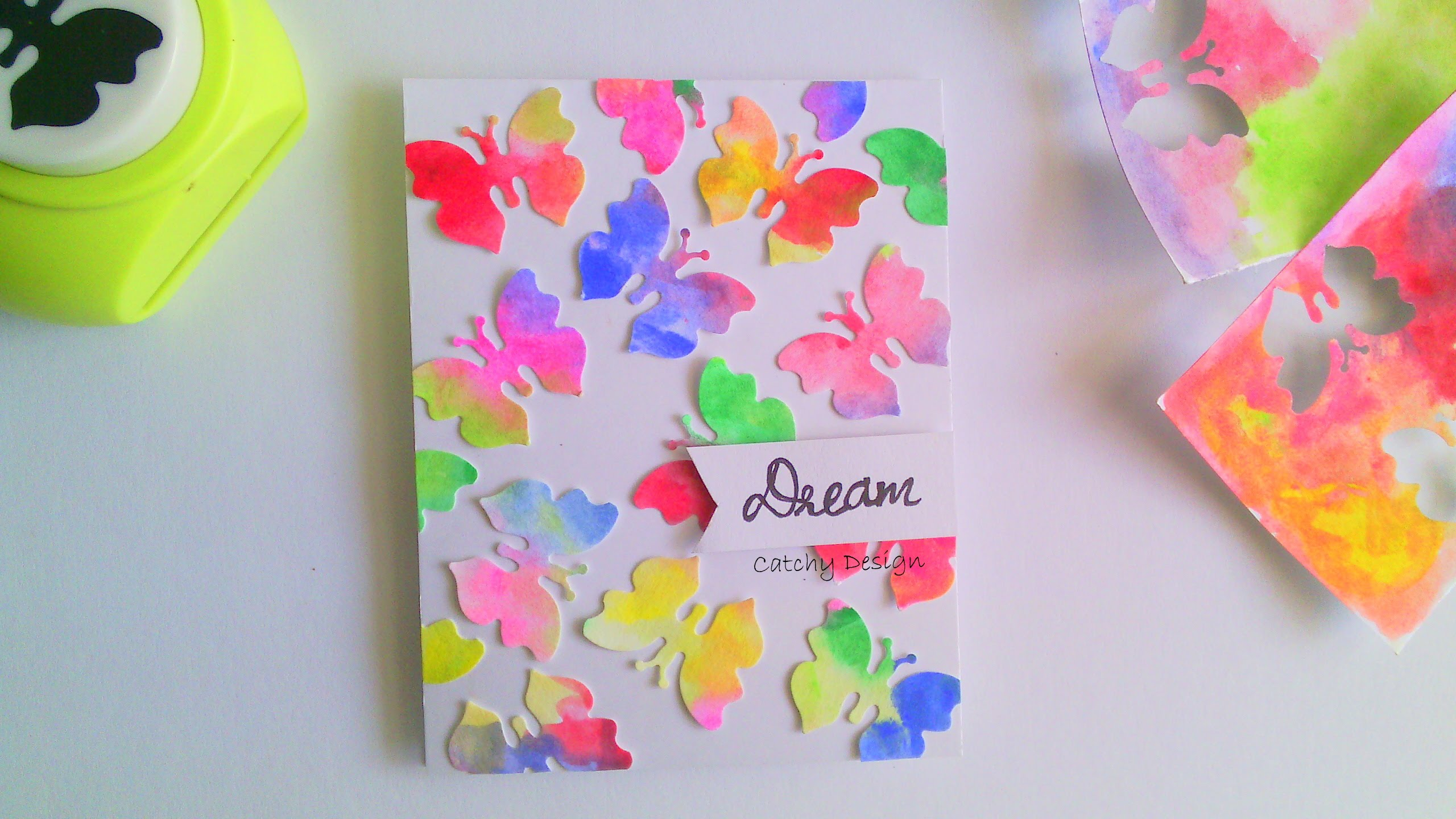 Diy Easy Card Making For Beginners And Kids Water Color Erflies Everything 4 Christmas